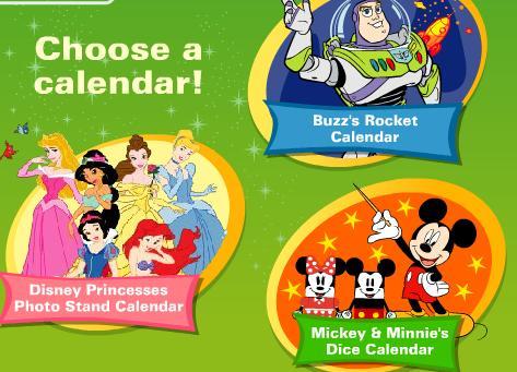 公主日历和太空人涂色