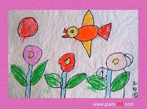 快乐小鸟(幼儿园小班作品)图片