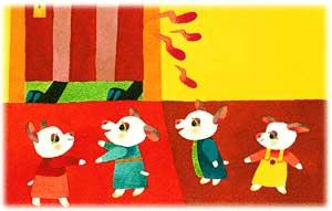 图文故事:大灰狼和七只小羊