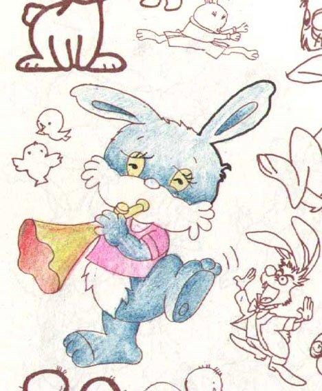 幼儿绘画:小白兔