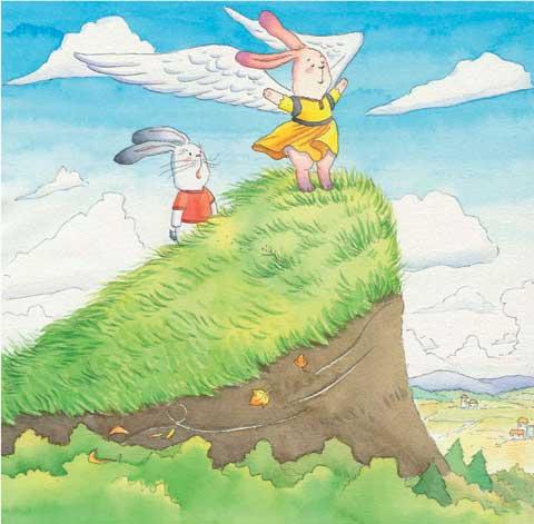 两只小兔子 图画故事