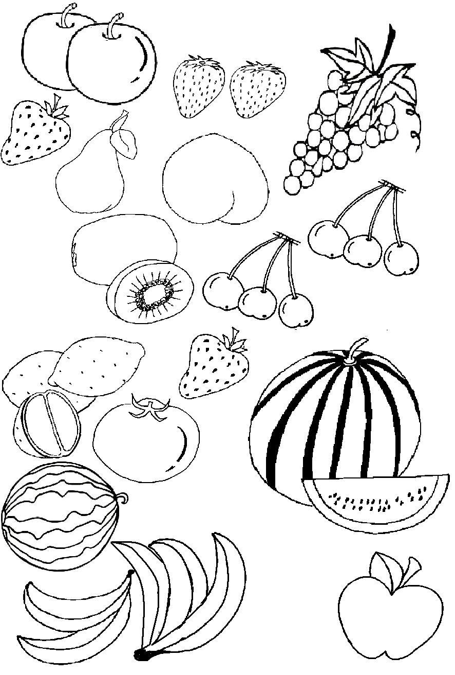 水果简笔画11张 植物简笔画 涂色图片