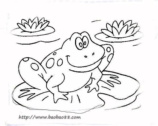 青蛙简笔画[22p]_动物简笔画(涂色图片)