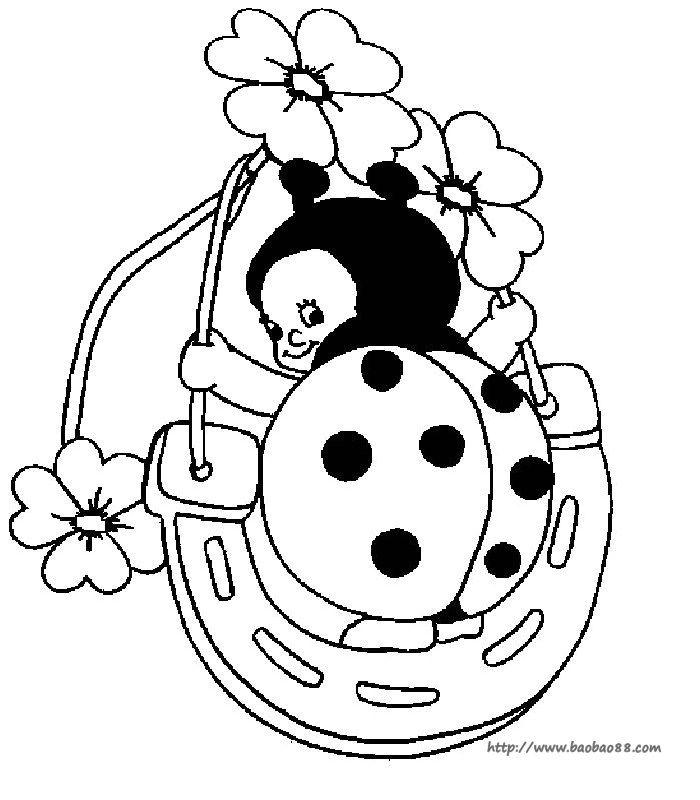 可爱的七星瓢虫简笔画图片!