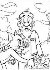 猫和老鼠填色卡[45p]_卡通动漫简笔画(涂色图片)