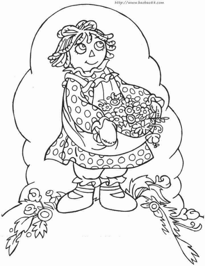 母亲节简笔画[38p]_节日简笔画(涂色图片)-维族节日简笔画