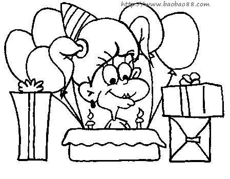 庆祝生日的一些简笔画!