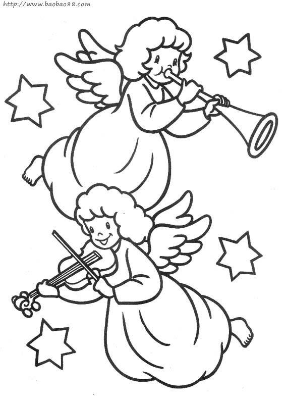 一些可爱的小天使的简笔画