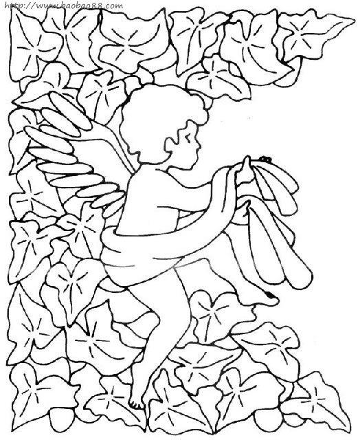 一些可爱的小天使的简笔画!;