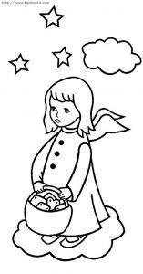 一些可爱的小天使的简笔画!