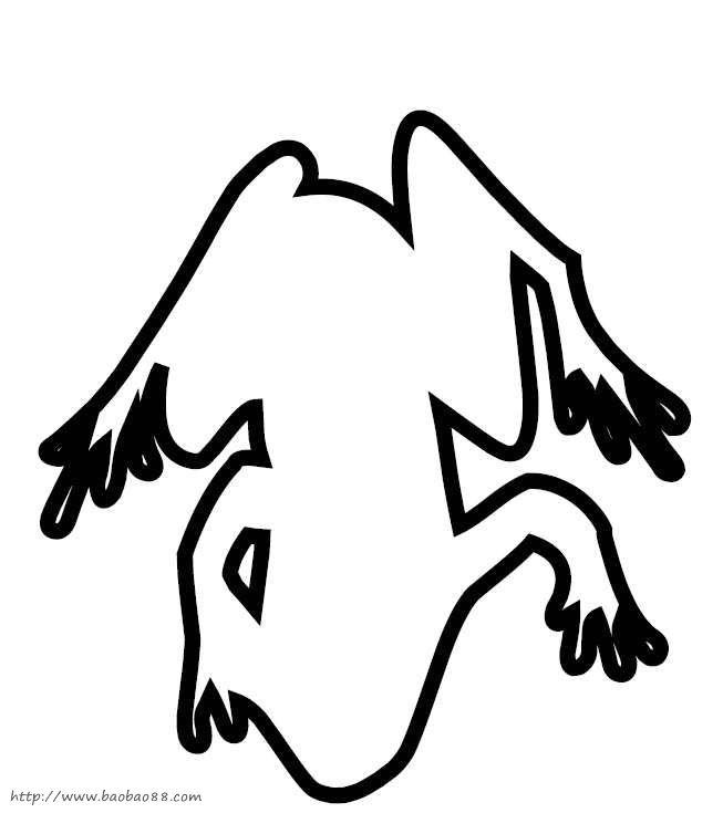 动物剪贴画模板[50p]_动物简笔画(涂色图片)