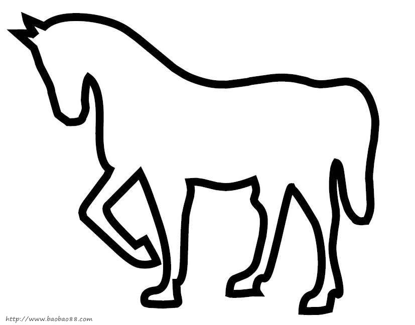 动物剪贴画模板33