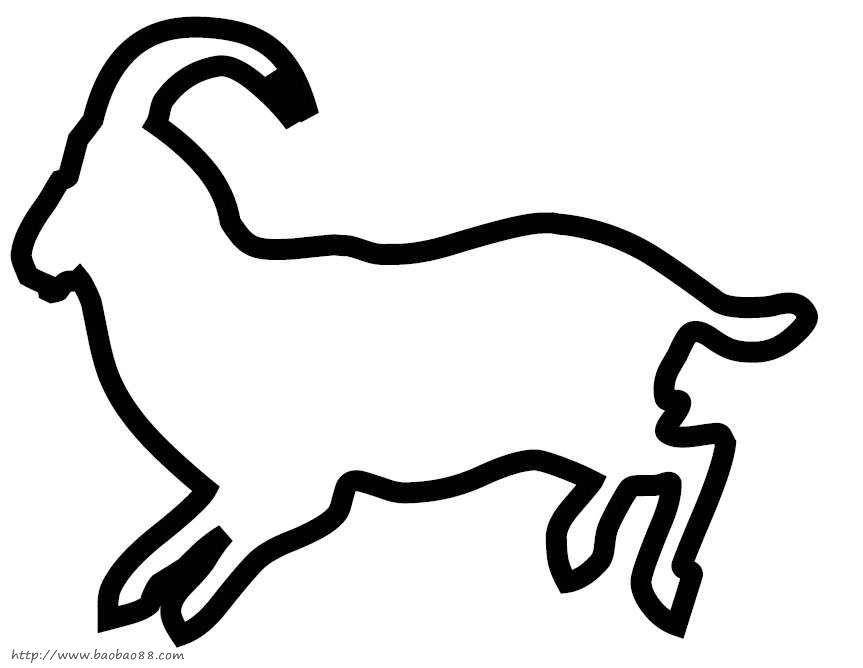 动物剪贴画模板39