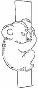 可爱的考拉简笔画4