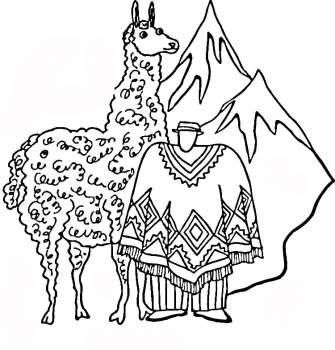 骆驼简笔画[17p]_动物简笔画(涂色图片)