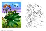 蚱蜢(蝗虫)简笔画6