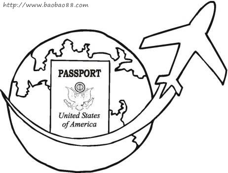 Passport Coloring Page Coloring Pages