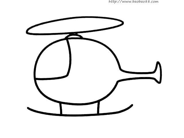 各种直升飞机的简笔画!