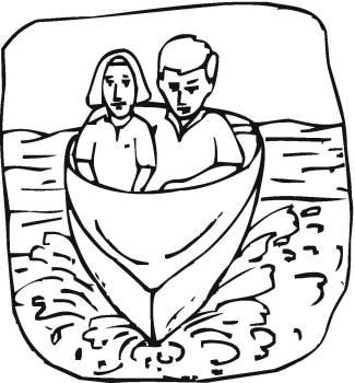 帆船轮船简笔画4