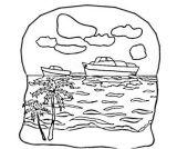 帆船轮船简笔画6