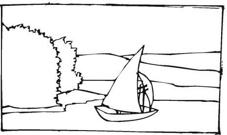 帆船轮船简笔画15