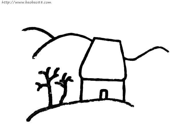 光头强的房子简笔画内容图片展示