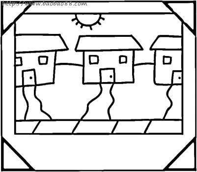 藏族家园简笔画内容图片展示