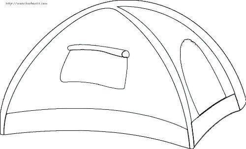 帐篷简笔画1