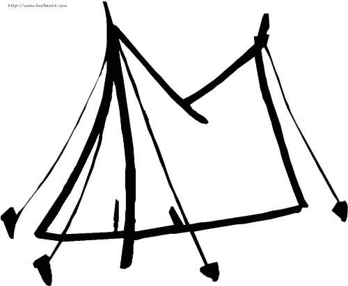 帐篷简笔画2
