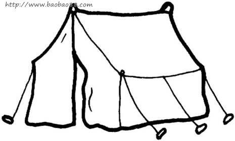 帐篷简笔画[23p]_建筑简笔画(涂色图片)