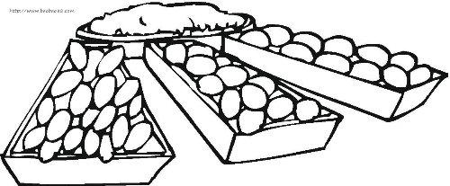 小吃零食简笔画[19p]_食物简笔画(涂色图片)