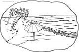 海洋海滩风景简笔画
