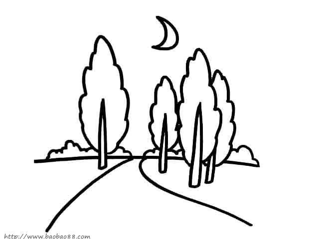 简笔画家乡美景图夏日美景简笔画乡村美景简笔画-乡村城市简笔画