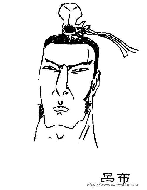 三国演义人物简笔画 张飞1