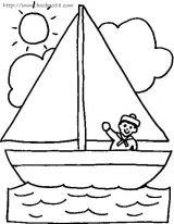 帆船简笔画2