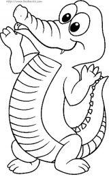 鳄鱼简笔画2