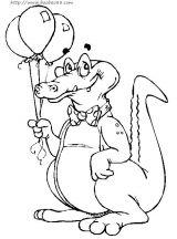 鳄鱼简笔画5