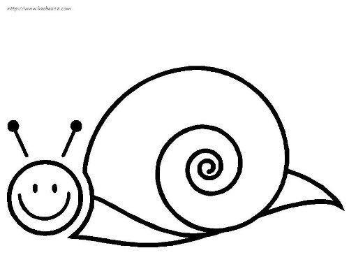 昆虫简笔画:蜗牛3