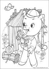 三只小猪涂色图片2