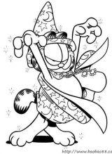 加菲猫涂色图片(一)5