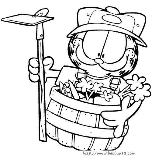 加菲猫动漫图片黑白_动漫图片男生帅气霸气_动漫图片
