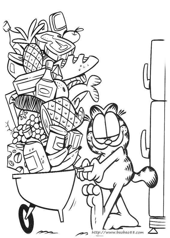 卡通动漫简笔画(涂色图片)