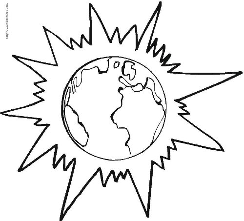 2 for Solar eclipse coloring page
