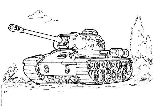 坦克简笔画[7p]_交通工具简笔画(涂色图片)