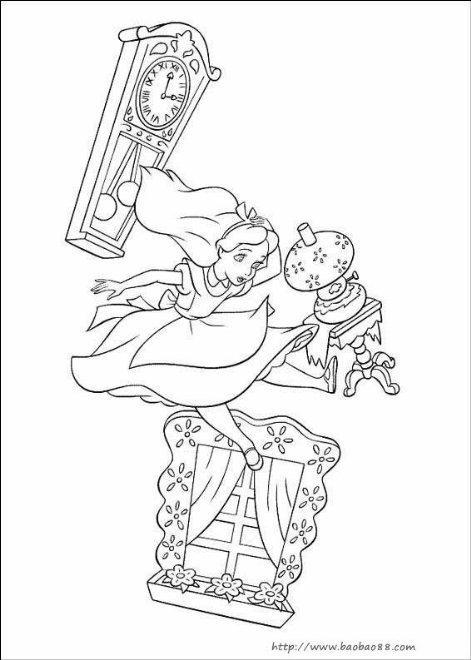 美人鱼简笔画 童话幻想简笔画 涂色图片