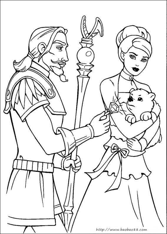 幽灵城堡简笔画 童话幻想简笔画 涂色图片