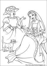 芭比公主填色图5