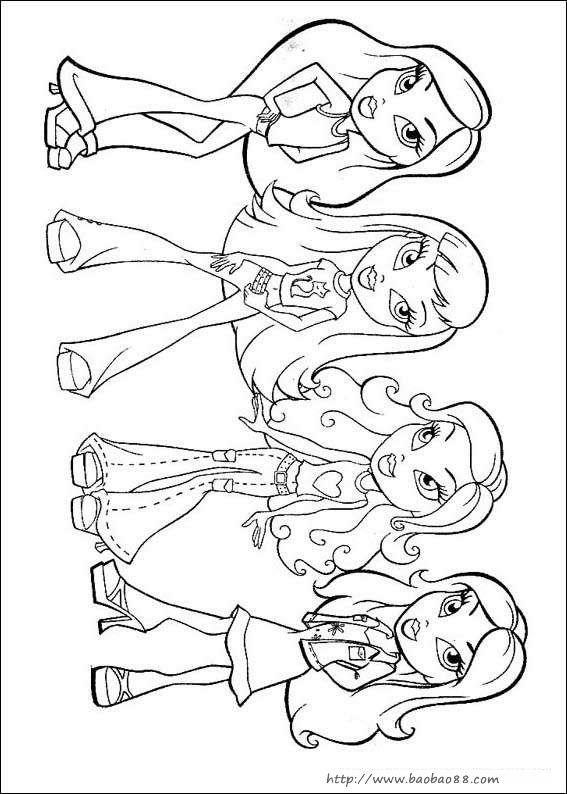 玩具芭比娃娃简笔画