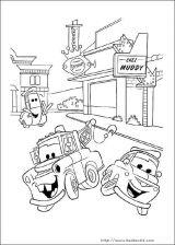 迪士尼汽车填色图3