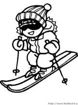 冬季运动简笔画2